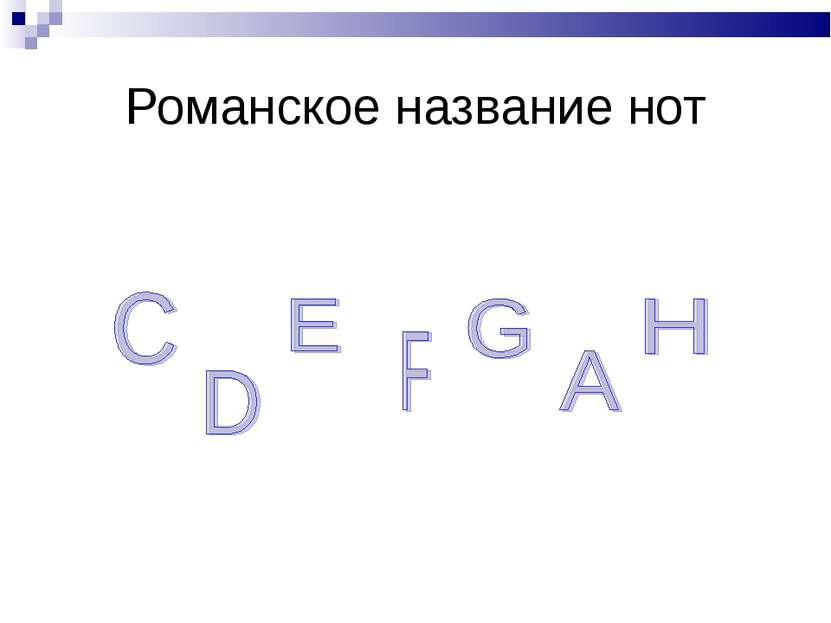 Романское название нот