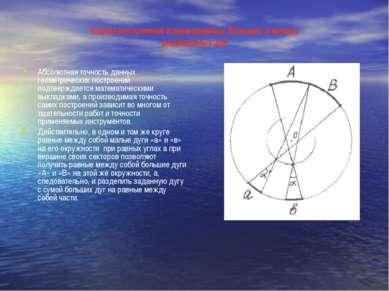 Схема построения взаиморавных больших и малых радиальных дуг Абсолютная точно...
