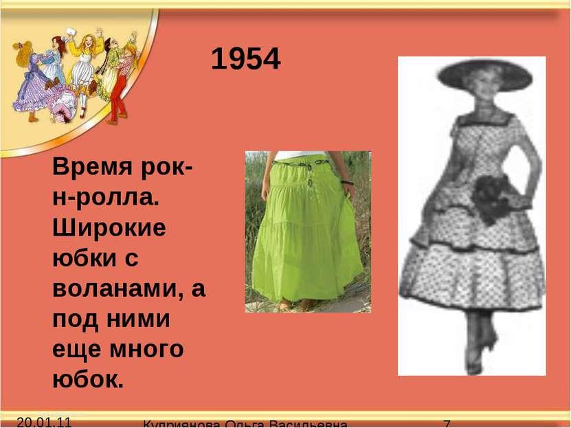 Время рок-н-ролла. Широкие юбки с воланами, а под ними еще много юбок. 1954 К...