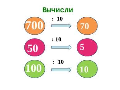 Вычисли : 10 : 10 : 10 100 50 700 70 5 10