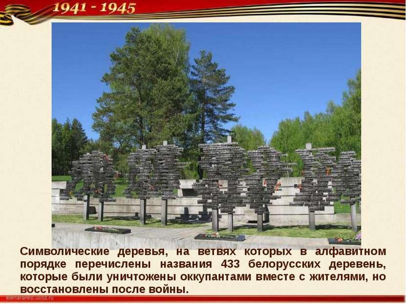 Символические деревья, на ветвях которых в алфавитном порядке перечислены наз...