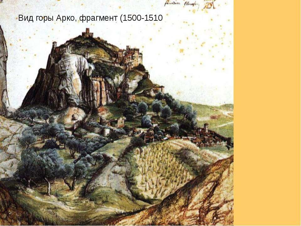 Вид горы Арко, фрагмент (1500-1510