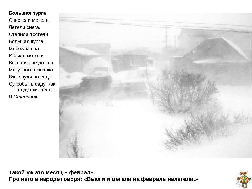 Такой уж это месяц – февраль. Про него в народе говоря: «Вьюги и метели на фе...