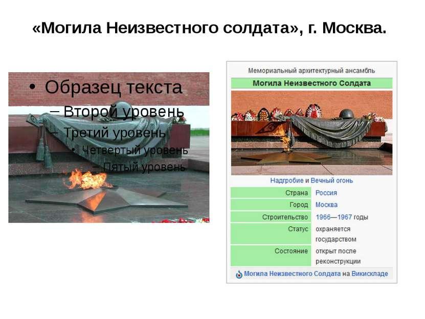 «Могила Неизвестного солдата», г. Москва.