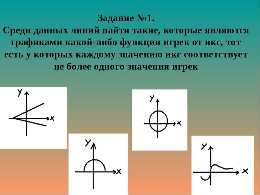 Задание №1. Среди данных линий найти такие, которые являются графиками какой-...