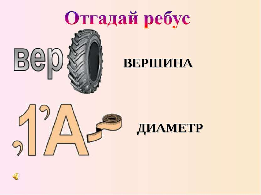 ВЕРШИНА ДИАМЕТР