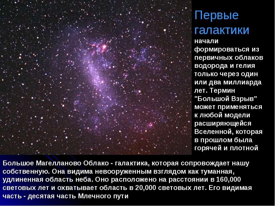 Первые галактики начали формироваться из первичных облаков водорода и гелия т...
