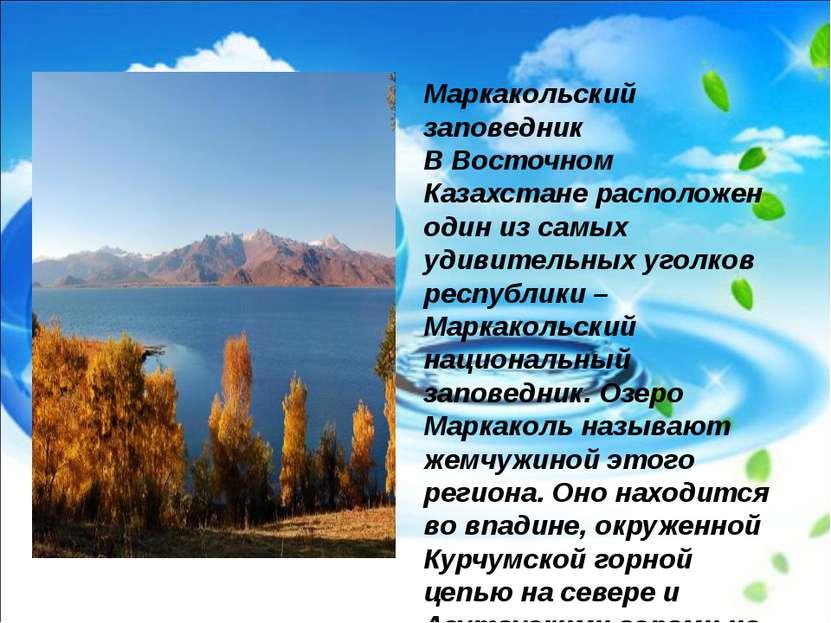 Маркакольский заповедник В Восточном Казахстане расположен один из самых удив...