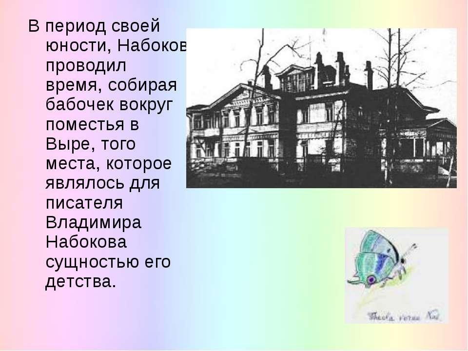 В период своей юности, Набоков проводил время, собирая бабочек вокруг поместь...