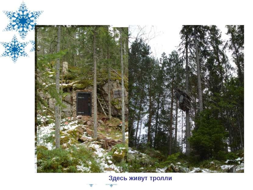 В резиденции шведского Деда Мороза, 2008г Волшебное озеро в резиденции Деда М...