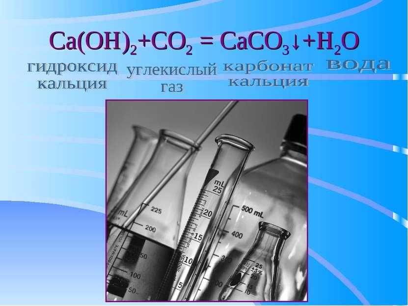 Ca(OH)2+CO2 = CaCO3↓+H2O