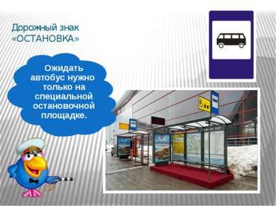 Дорожный знак «ОСТАНОВКА» Ожидать автобус нужно только на специальной останов...