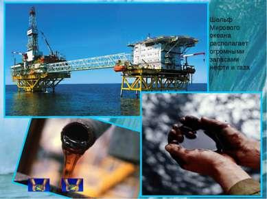 Шельф Мирового океана располагает огромными запасами нефти и газа