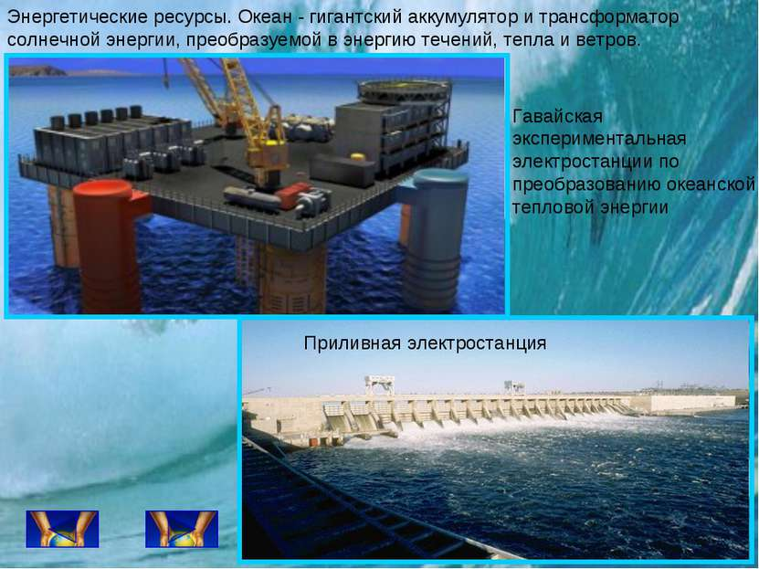 Энергетические ресурсы. Океан - гигантский аккумулятор и трансформатор солнеч...