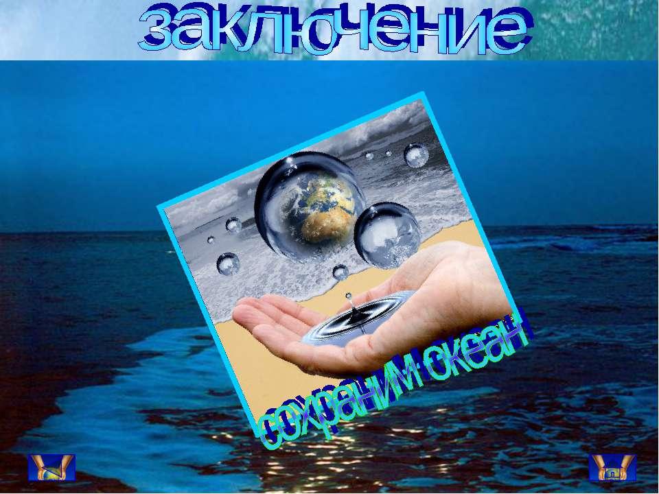 Последствия, к которым ведёт небрежное отношение человечества к Океану ужасны.