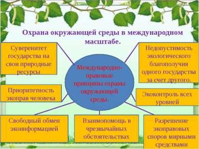 Охрана окружающей среды в международном масштабе. Международно- правовые прин...