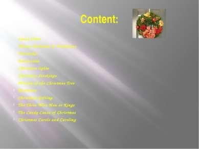 Content: Santa Claus Winter Festivals & Traditions Fruitcake Poinsettias Chri...