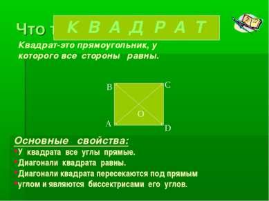 Что такое квадрат? Квадрат-это прямоугольник, у которого все стороны равны. О...