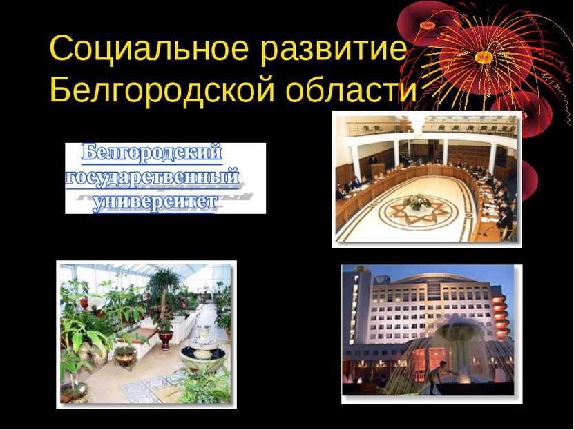 Социальное развитие Белгородской области