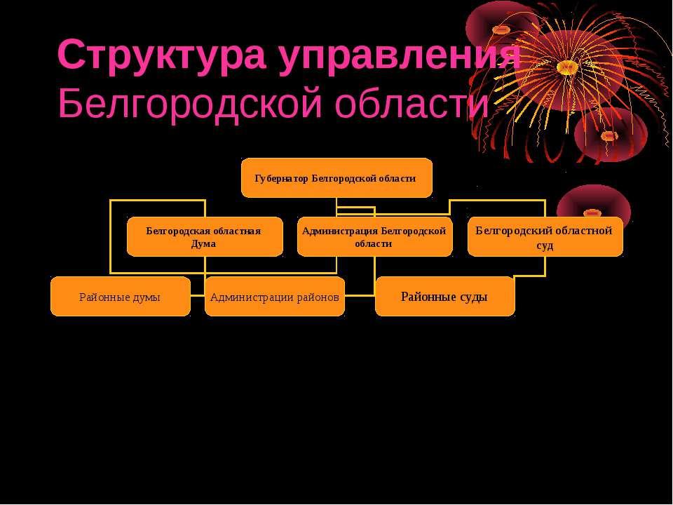 Структура управления Белгородской области