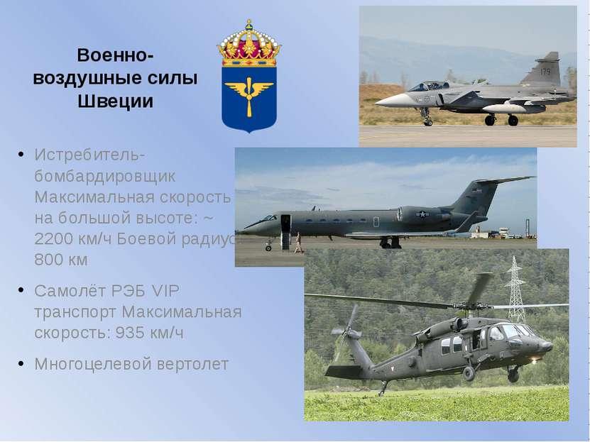 Военно-воздушные силы Швеции Истребитель-бомбардировщик Максимальная скорость...
