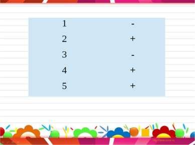 1 - 2 + 3 - 4 + 5 +