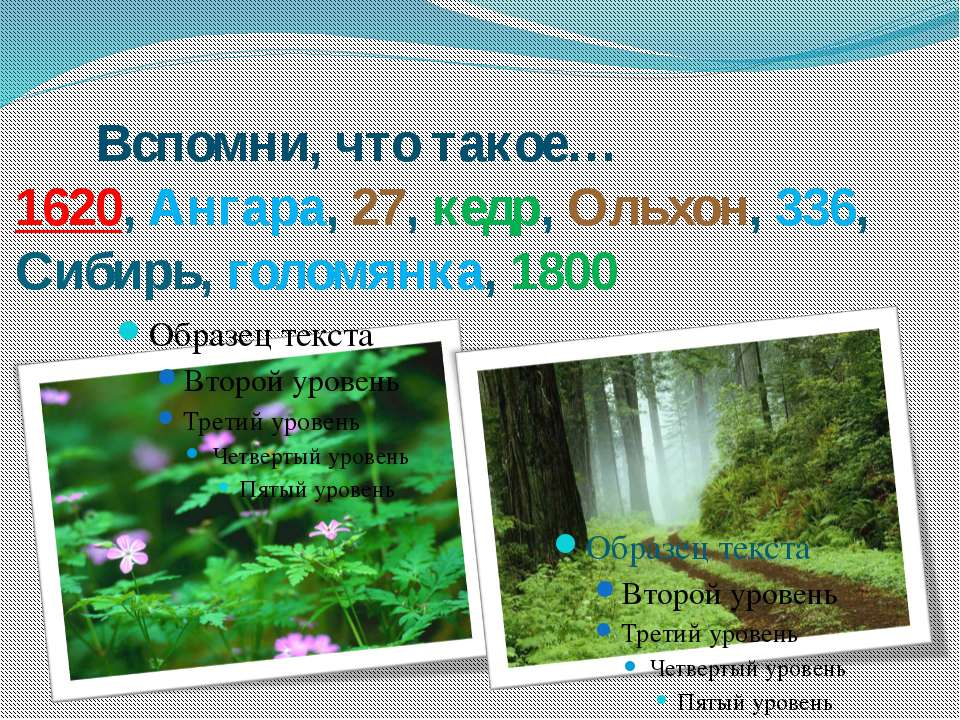 Вспомни, что такое… 1620, Ангара, 27, кедр, Ольхон, 336, Сибирь, голомянка, 1800