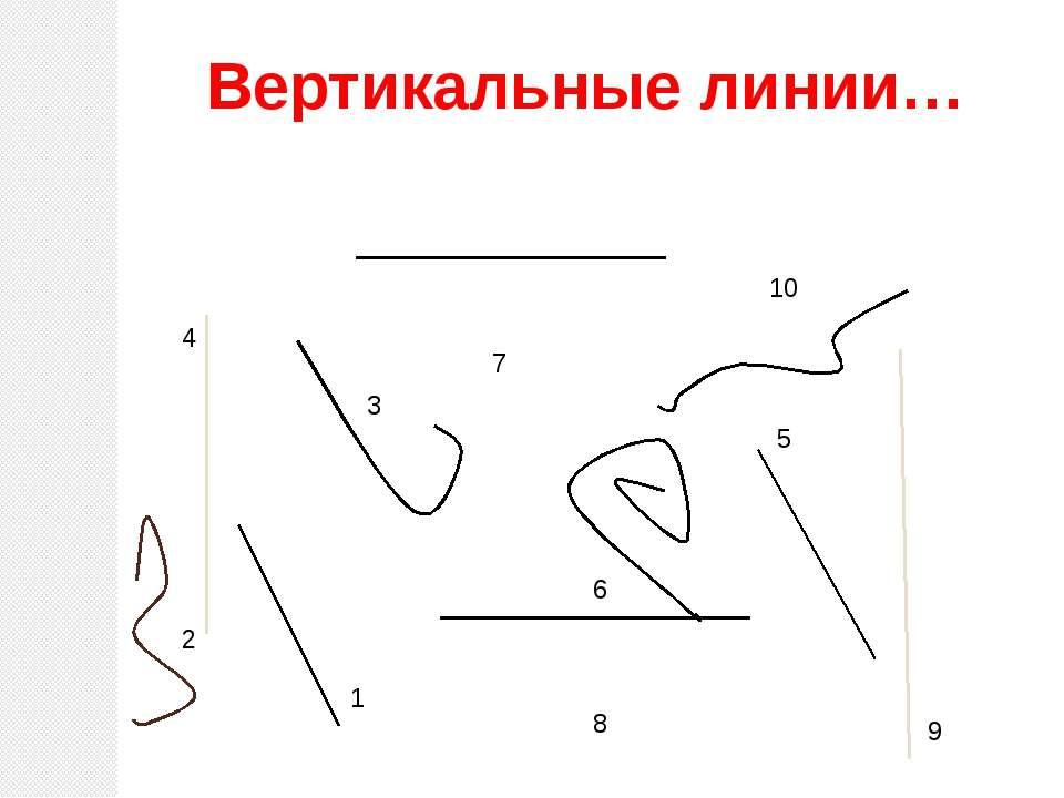 10 5 6 4 8 7 1 2 3 9 Вертикальные линии…
