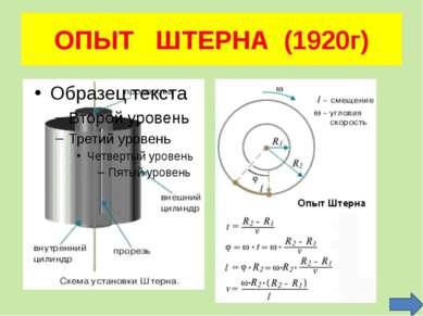 ОПЫТ ШТЕРНА (1920г)