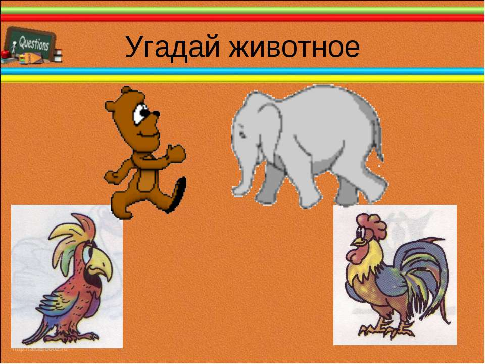Угадай животное * *