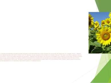 Земледелие. В связи с большим разнообразием культурных растений отраслевой со...