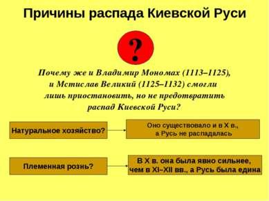 Почему же и Владимир Мономах (1113–1125), и Мстислав Великий (1125–1132) смог...