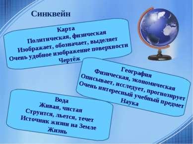 Синквейн Карта Политическая, физическая Изображает, обозначает, выделяет Очен...