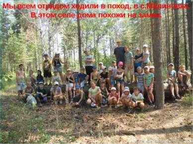 Мы всем отрядом ходили в поход, в с.Малиновка. В этом селе дома похожи на замки.