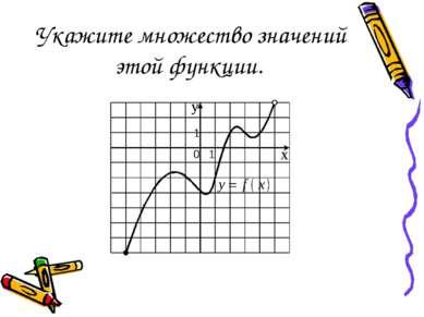 Укажите множество значений этой функции.