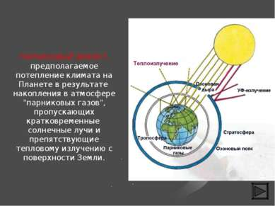 ПАРНИКОВЫЙ ЭФФЕКТ-предполагаемое потепление климата на Планете в результате н...