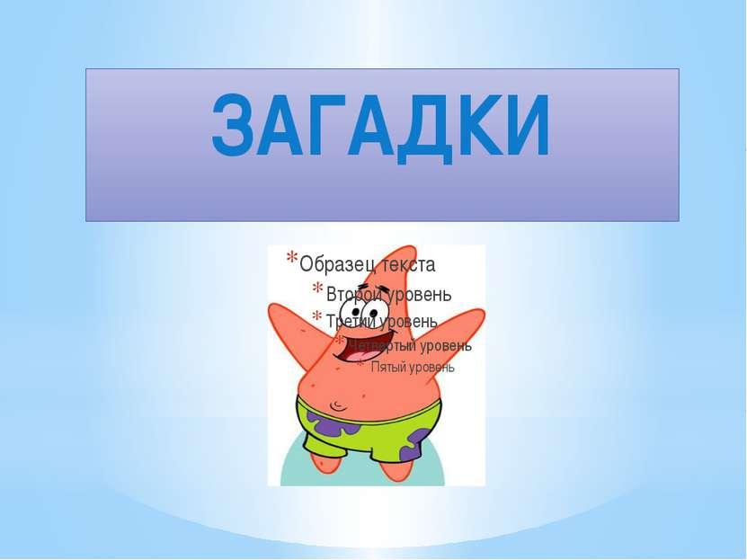 ЗАГАДКИ