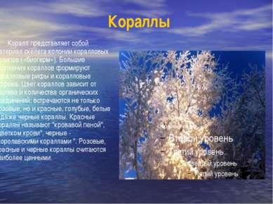 Кораллы Коралл представляет собой материал скелета колонии коралловых полипов...