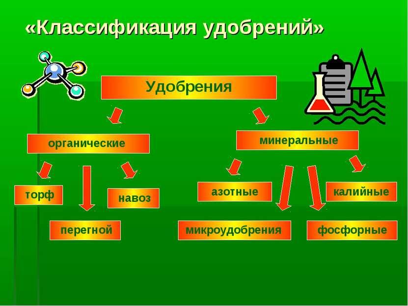 «Классификация удобрений» Удобрения органические минеральные торф навоз перег...