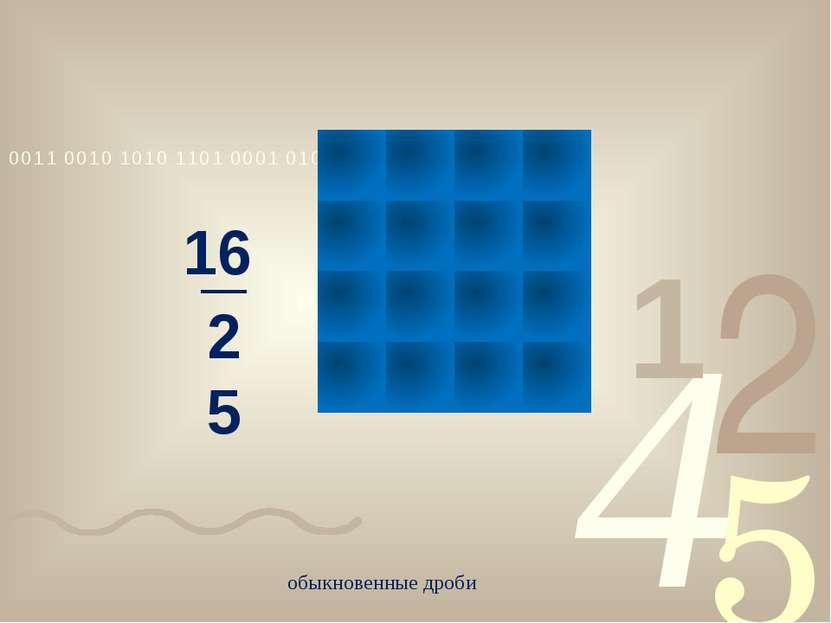 обыкновенные дроби 16 25