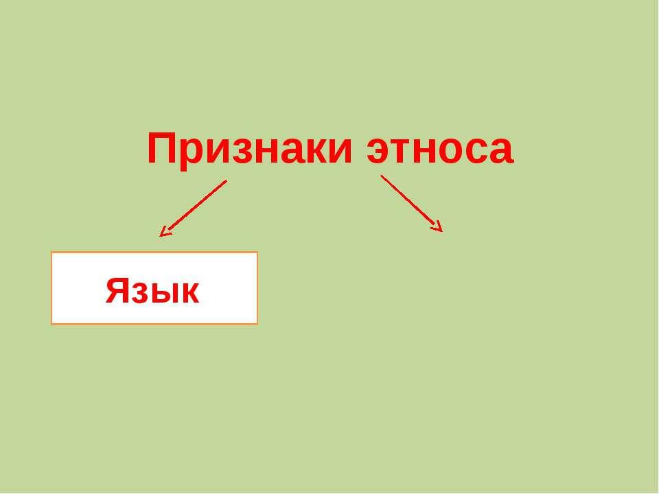 Признаки этноса Язык