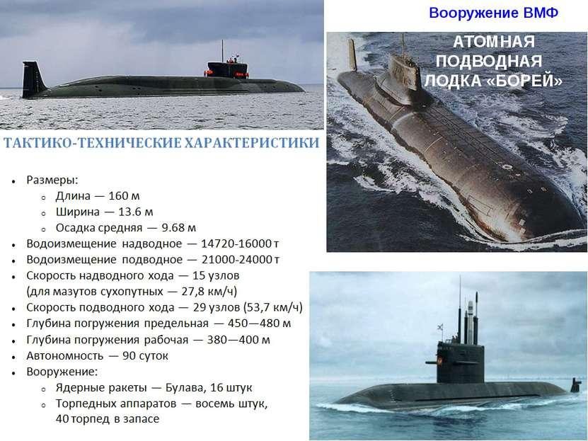 Вооружение ВМФ АТОМНАЯ ПОДВОДНАЯ ЛОДКА «БОРЕЙ»