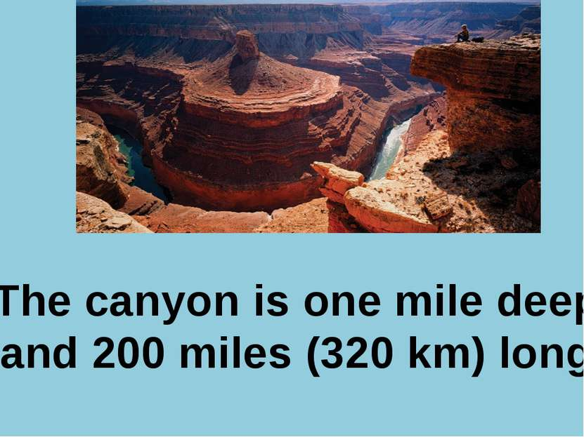 Р. В. Покотило ГОУ СОШ 1200 The canyon is one mile deep and 200 miles (320 km...
