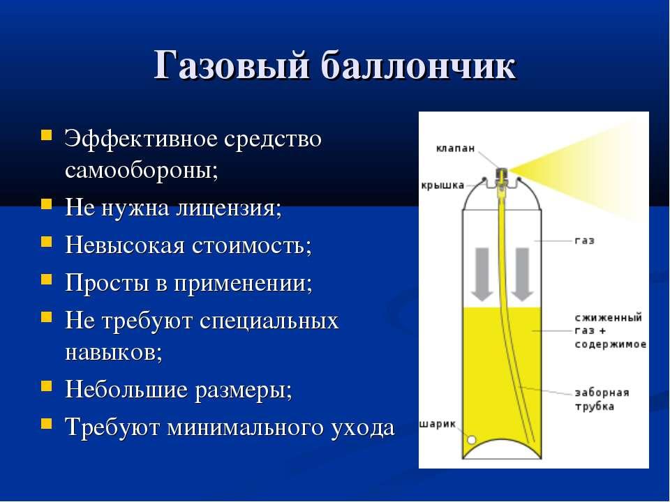 Газовый баллончик Эффективное средство самообороны; Не нужна лицензия; Невысо...