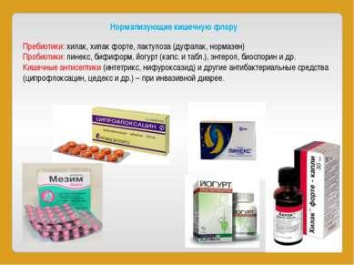 Нормализующие кишечную флору Пребиотики:хилак,хилак форте, лактулоза (дуфал...