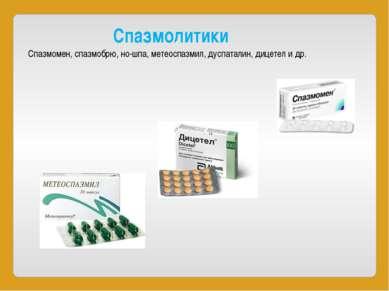 Спазмолитики Спазмомен,спазмобрю,но-шпа,метеоспазмил,дуспаталин,дицетел...