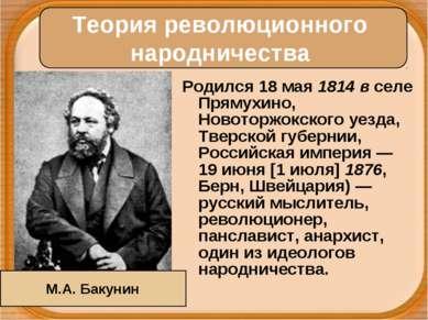 Родился 18 мая 1814 в селе Прямухино, Новоторжокского уезда, Тверской губерни...