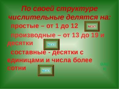 ДРОБНЫЕ ЧИСЛИТЕЛЬНЫЕ ПРОСТЫЕ 1/3 А (one) third ДЕСЯТИЧНЫЕ 3,4 Three роint four