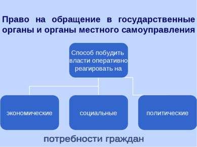 Право на обращение в государственные органы и органы местного самоуправления