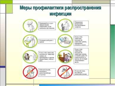Меры профилактики распространения инфекции